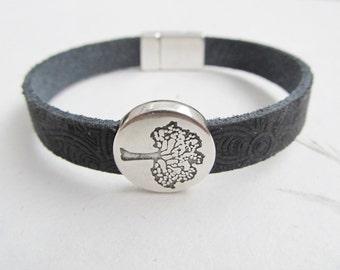Tree bracelet, leather bracelet, tree of life bracelet