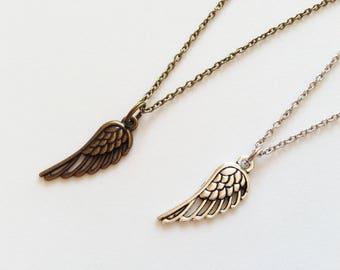 ANGEL WINGS Necklace Angel Wings Jewelry Wings Necklace Wings Gift Bird Lovers Gift Bird Jewelry Bird Necklace Small Wings Charm Angel Wings