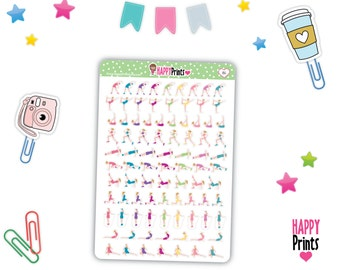 HP 186) -- Fitness Planner Stickers