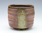 Woodfired, ash glazed ceramic cup