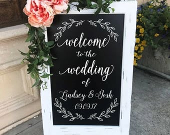 Welcome To The Wedding Of Sign - Wedding Chalkboard - Welcome Wedding Decor - Aisle Decor - Wedding Sign - Party Decor - Entrance - Ceremony