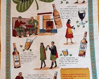 Vintage Wall Hanging Irish Whiskey Recipes
