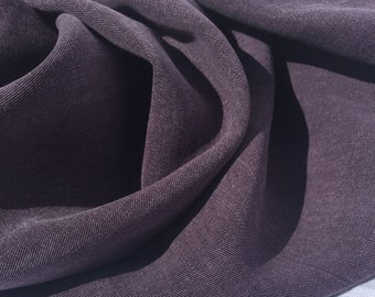 "58"" Eggplant Purple Tencel Rayon Lyocell Gabardine Twill ENZYMED WASHED Medium Weight Woven Fabric By the Yard"
