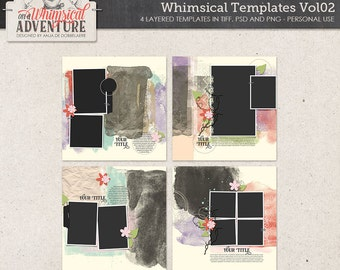 Templates digital scrapbooking, templates, artsy, painted, painted masks, photo masks, clipping masks, photo frames, paint, photoshop
