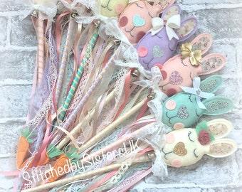 Easter bunny fairy wand Easter gift cute bunny Easter keepsake