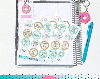 Teacher Adulting 2 - Celebration Sticker Set | Erin Condren Horizontal Vertical Life Planner | Adult Educator Life Stickers