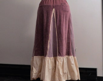 Sweater Skirt, Maxi Skirt, Bohemian Sweater Skirt, Repurposed Skirt, Upcycled Skirt, Medium/Large, Ready to Ship,
