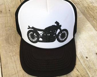 Kids motorcycle trucker hat