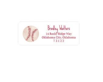 Baseball Return Address Labels - Custom - Personalized - Address Sticker - Family - Boy - Sports
