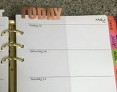 Clear Today Page Marker Tab