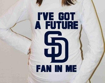 San Diego Padres Shirt San Diego Padres Baseball Long Sleeve Maternity Shirt Pregnancy Baby Shower