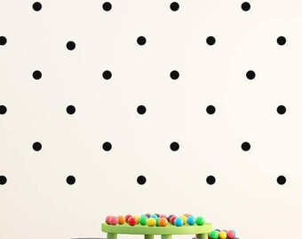 50mm Polka dot Wall decals , Set of 44