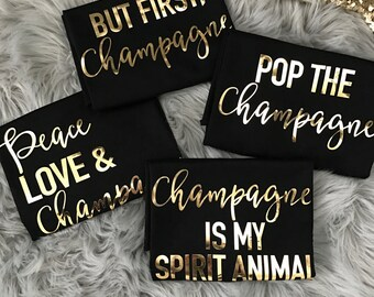 Bachelorette Champagne sayings on Racerback Tank Top Gold Foil // Bachelorette Party Tank Tops,Bachelorette Party, Bachelorette, Bride 6001