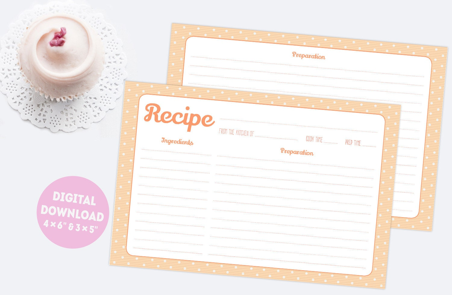 It is an image of Gratifying Cute Recipe Cards