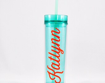 Personalized Mint Tumbler - Cute Water Bottle, Weekly Hydrate, Workout Water Bottle, Travel Cup, Gift for Her, Personalized Cup, Acrylic Cup