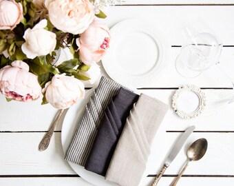 Linen  Cloth Napkins bulk -  Washed linen napkins