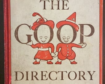 The Goop Directory, 1913 vintage children's etiquette book