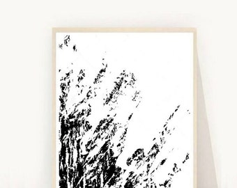 Black Abstract Art Print, Watercolor Art, Printable Art, Modern Wall Art, Minimalist Poster, Home Decor, Instant Download