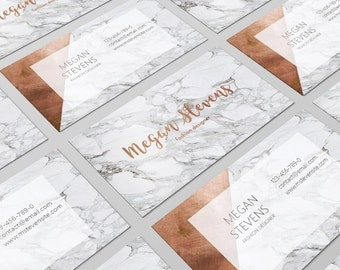 Copper Business Card, Marble Copper, Modern Business Card, Rose Gold Card, Calling Card, Personal Card, Business Card Design, Printable Card