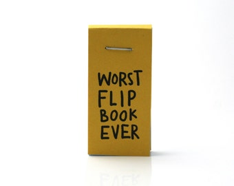 sloth flip book, funny flip book, funny sloths, worst flipbook ever, funny gift, funny stocking stuffer, paper art, book, comics
