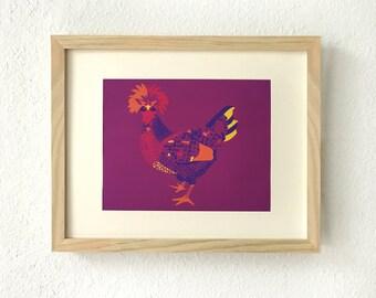 Modern farmhouse, Chicken decor print, Farmhouse style, Wall art, Wall decor, farmhouse decor, kitchen decor, gift for her, art print,