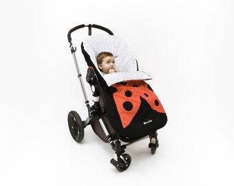 Ladybug stroller sack