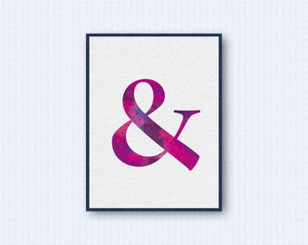 Ampersand Watercolor Poster