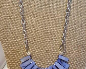 Statement necklace - Blue statement necklace - Shell necklace - Shell jewelry - Blue necklace - Fancy blue necklace - Fancy necklace