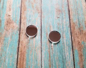 16mm Mirror Earring Acrylic Blanks Earring Blanks - Monogrammed Earrings - Vinyl Blanks - Acrylic Earring Blanks