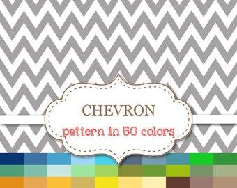 """CHEVRON Pattern 50 Color Paper Pack Chevron Digital Paper Rainbow Chevron Paper Chevron Scrapbook paper Instant Download 12""""x12"""" #P109"""