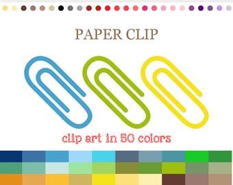 50 Colors Digital PAPER CLIP Clipart Paperclip clipart Paper clips clipart Paper clipart Office clipart Work clipart Teacher clipart #C049