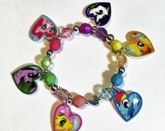 My Little Pony Charm Bracelet, My Little Pony Bracelet, My Little Pony Birthday Party Favors
