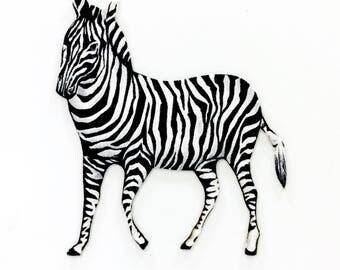 ZEBRA, MAGNET, Safari Animals, Black and White, Stripes, Zebra Print, Animal Print, Jungle Animals, Zebra Magnet,  Zebra Decor, Safari Decor
