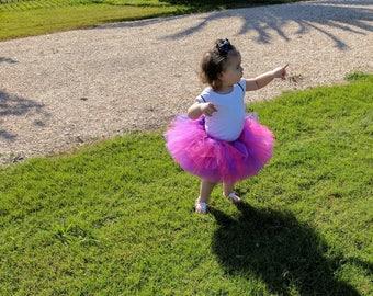 Purple pink tutu, Cheshire the cat tutu, photography prop, full tutu, baby tutu, first birthday tutu, Doc Mcstuffins tutu