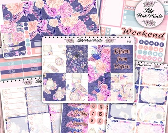 Fashion and Florals Weekly Kit Sticker (F-26, F-27, F-28, F-29, F-30, F-33) - Perfect for Erin Condren Life Planners / Journals / Stickers
