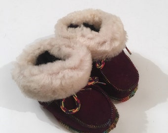 Baby shearling shoes,Real fur babies slippers F468