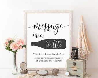 Message in a Bottle, Bottle Guest Book, Message in Bottle, Bottle Sign, Wedding Guestbook Sign, Message in a Bottle Wedding, Beach Guestbook