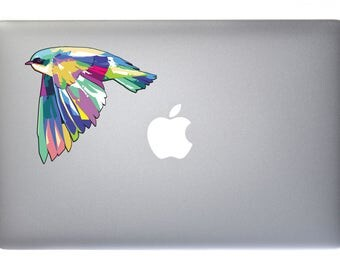 Pastel Flying Birdie - Full Color Decal for Macbook, Laptop or other device