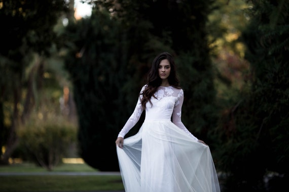 Long sleeve wedding dress lace sleeve wedding dress with like this item junglespirit Images
