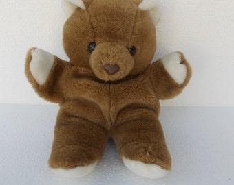 Vintage Teddy Bear Plush Hand Puppet