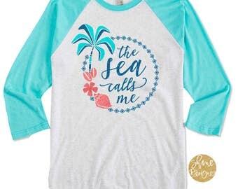 The Sea Calls Me - Moana Shirt - Magicaly Glitter Shirt