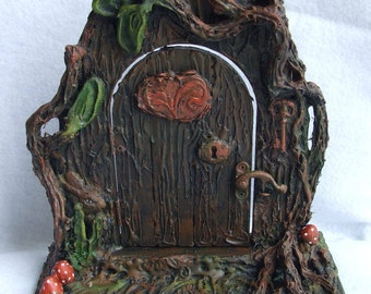 Woodland door, Fairy door,Fantasy door,Elf door,Opening fairy door,Ooak mini door,Woodland fairy door,Ooak Fairy door, Fairy portal, Fantasy