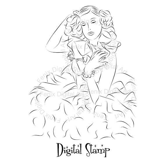 Digital Stamp,Clipart,Line art,Tina Fashion Lady,Fashion Girl graphics,Digi stamp,digistamp,Art print,fashion Illustration INSTANT DOWNLOAD