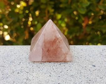 Fire Quartz Pyramid, Fire Quartz, Energy Pyramid, Quartz Pyramid, Quartz