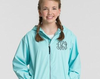 Monogram Rain Jacket, Kids Rain Coat, Personalized Rain Coat, Charles River, Monogram Charles River,  Monogram Rain Coat, Monogram Rain Jack
