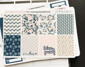 VERTICAL Emma Navy for use with Erin Condren Lifeplanner™ Weekly Kit Planner Stickers
