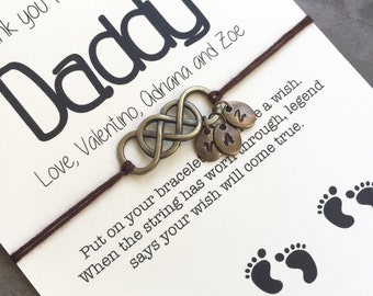 Daddy gifts, Deployment gift, Gift for dad, Daddy to be, Dad gifts, New dad gift, Gift from baby, Deployment bracelet, Father gift, A73