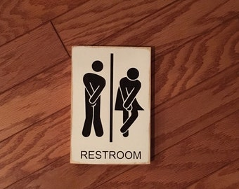 Bathroom Signs South Africa restroom sign | etsy