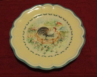 Lenox Provencal Garden Rooster Chicken Accent Salad Plate