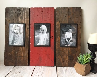 Wood Picture Frame - Rustic Picture Frame  - Rustic Home Decor - Rustic Wall Decor - Mantle Decor - Picture Frame Set - 4x6 Picture Frame